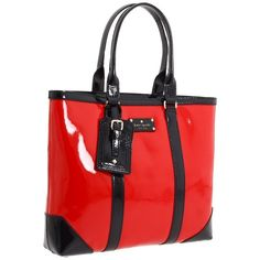 Kate Spade New York Barclay Street Dama ($200) ❤ liked on Polyvore featuring bags, handbags, tote bags, purses, bolsos, red, red handbags, kate spade handbag, strap purse and kate spade purses