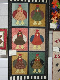 """Chicken Sisters"" finished in April 2012, by Gretchen McClain"