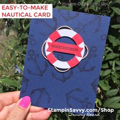Shop Online for Stampin' Up! Products - Mary Fish, Stampin' Pretty WOW Picks from my Pals Stamping Community. Stampin Pretty, Stampin Up, Honduras, Nautical Cards, Nautical Theme, Pink Opal, Good Good Father, Pretty Cards, Card Sketches
