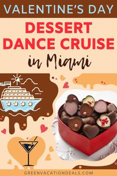 Valentine's Day Dessert Dance Cruise In Miami Vacation Deals, Florida Vacation, Florida Travel, Miami Florida, Travel Deals, Travel Hacks, Travel Essentials, Travel Tips, Romantic Vacations