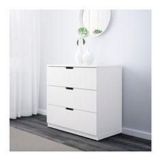 IKEA - NORDLI, Byrå med 3 lådor, , Du kan använda en byråmodul eller kombinera flera så att de passar ditt utrymme.Du kan enkelt skapa din personliga design genom att blanda byråer med olika färger.Inbyggd dämpare fångar upp lådan i farten och stänger den långsamt, tyst och mjukt.De dolda lådskenorna gör att lådorna glider mjukt även när de är tungt lastade.Justerbara fötter gör att du kan parera eventuella ojämnheter i golvet.
