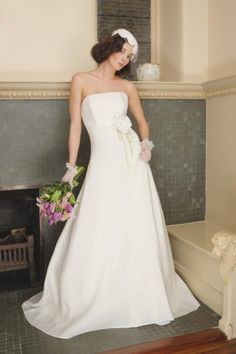Wedding Dress Couture Ecofriendly Organic Linen by NaturalBridals, $1195.00