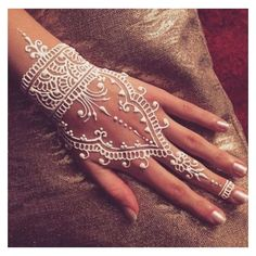 25 Amazing White Henna Designs ❤ liked on Polyvore featuring accessories