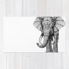 Ornate Elephant Rug by BIOWORKZ   Society6