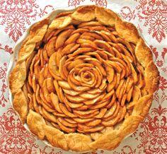 Apple Wedding pie: http://www.mirileigh.com/2010/11/heidi-and-jasons-love-pie/