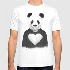 Check out society6curated.com for more! @society6 #fashion #style #tshirt #shirt #clothing #accessory #accessories #gift #idea #buy #shop #shopping #sale #fun #art #awesome #drawing #illustration #design #panda #bear #animal #love #heart #black #white