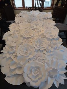 51 diy paper flower tutorials how to make paper flowers paper flower wall backdrop custom made perfect for wedding babyshower mightylinksfo