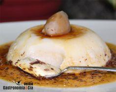 Receta de Panna Cotta de castañas con caramelo de naranja