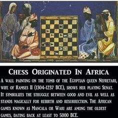 Chess originated in Africa Black History Facts, Black History Month, Ancient Egypt, Ancient History, Egyptian Queen, Mystery Of History, History Projects, African American History, Moorish