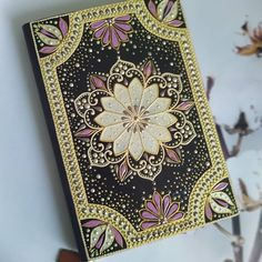 Dot Art Painting, Mandala Dots, Diy And Crafts, Hand Painted, Crafty, Notebooks, Planners, Boxes, Handmade
