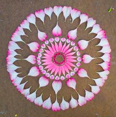 [ॐ] Omwoods: Flower Mandala Nature Magick.... I love this idea... Thank you I can't wait to try