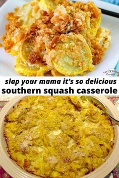 Easy creamy Southern Squash Casserole topped with crunchy ritz crackers is a must-make dinner side dish! dinner sides Slap Your Mama It's So Delicious Southern Squash Casserole Dinner Side Dishes, Dinner Sides, Easy Side Dishes, One Dish Dinners, Side Dish Recipes, Vegetable Recipes, Recipes Dinner, Easy Yellow Squash Recipes, Baked Squash Recipes