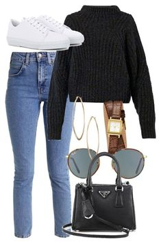 #winter #outfits / sneakers + knit sweater