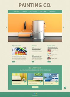 Painting Co. #website #template. #themes #business #responsive
