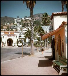 Playhouse - Avalon, Catalina Island    Crescent, Marilla and Whittley Avenues.    35mm Kodachrome slide transparency.