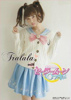 """Sailor moon fashion collaboration  """"『美少女戦士セーラームーンCrystal×Tralalaコラボレーション商品』発売! ラインナップは、マカロンカラーの『セーラー衿タンク』など、全5アイテムです! 詳しくはTralala(トゥララ)公式HPをチェック!"""""""