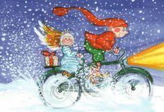 Virpi Pekkala, Finland Christmas Love, Christmas Images, Christmas Angels, Christmas Snowman, Xmas, Winter Illustration, Illustration Art, Primitive Folk Art, Whimsical Art