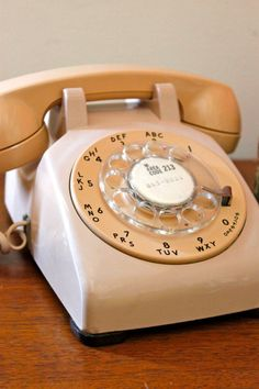 $30 Vintage Rotary Dial Telephone Beige Two Toned — Is it really an office if you don't have a rotary dial phone? #1000spree