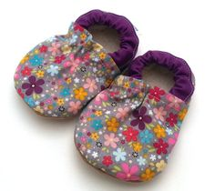 Buy Now baby shoes flowers purple and gray flower shoes for...