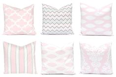 Baby Pink Pillow Covers  Pink Pillow Shams  by CompanyTwentySix