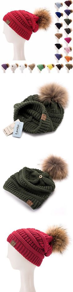 89a707e0199 Hats 45230  Womens Mens Acrylic Winter Cap Baggy Slouchy Fur Pom Pom Beanie  Toque Hat A404 -  BUY IT NOW ONLY   10.44 on  eBay  womens  acrylic  winter  ...