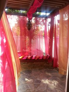 Just finished making my backyard patio into a moroccan veranda. :-)