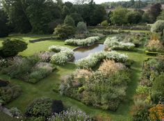 The sunken garden at Doddington Place, Kent, designed by Kirsty Knight Bruce .................. Image: Adam Roberts