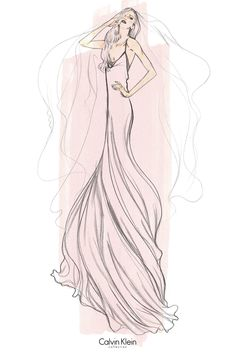 Lady Gaga wedding gown imagined by Francisco Costa for Calvin Klein Collection. [Courtesy of the designer]