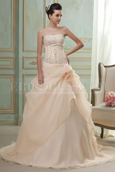 Fabulous A-Line/Princess Sweetheart Cathedral Wedding Dress $295