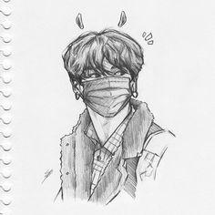 Jimothy 💁♀️ I am posting not at this can't be real Jungkook Fanart, Kpop Fanart, Kpop Drawings, Cool Art Drawings, Art Drawings Sketches, Sketch Drawing, Art Inspo, Kunst Inspo, Art Du Croquis