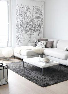sofás ikea sofa blanco salones blancos estilo nórdico escandinavo diseño nórdico decoración en blanco decoración de salon blog decoracion interiores