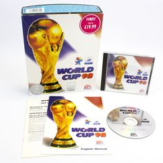 World Cup 98 for PC by Electronic Arts in Big Box, 1998, VGC, CIB