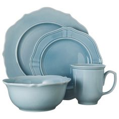 Threshold™ 16 Piece Wellsbridge Dinnerware Set - Aqua