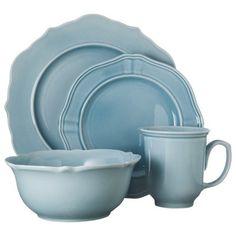 Threshold™ 16 Piece Wellsbridge Dinnerware Set - Aqua