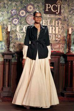 A model walks the ramp for  Sabyasachi Mukerjee at PCJ Delhi Couture Week 2012
