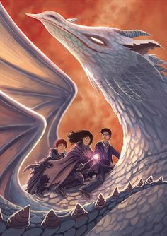 Harry, Ron, and Hermione in the Deathly Hallows by Kazu Kibuishi #harrypotter…