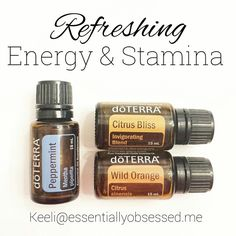 Three oils that work well together: Peppermint alone is a wonderfully refreshing oil Wild Orange & Citrus Bliss ➡Both of these oils make a wonderful compliment to peppermint for energy and stamina. They are also a great mood lifter. You can make a spray or diffuse them in a diffuser or put them into your hands to inhale. Citrus oils can also help you stay focused and help to calm nausea.