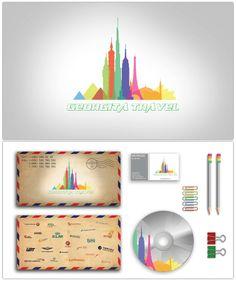 """Logo design & Branding for travel agency """"georgita travel"""""""