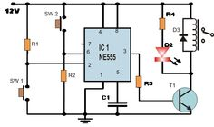 Set Reset Circuit using IC 555 | Homemade Circuit Projects