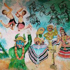 #wallpaint at #fortcochi #cochi #kerala #india #art #indianart