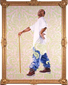 """Kehinde Wiley """"A New Republic"""" opens The Seattle Art Museum. Thursday February 11-May 8th 2016. Pictured here Portrait of Andries Stilte II 2006 oil and enamel on canvas 96 x 72 inches. #seattleartmuseum #kehindewiley #anewrepublic @seattleartmuseum by kehindewiley"""