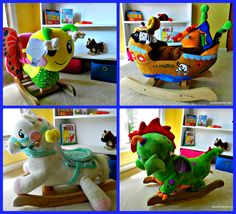 Four RockAbye Rockers - butterfly, pirate ship, cute dragon and carousel horse! #babyshower #giftideas ad