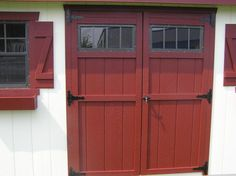 Wooden Double Door with Transom Windows Wooden Double Doors, Pool Shed, Shed Decor, Barn Parties, Transom Windows, Dream Barn, Front Doors, Sheds, Barns