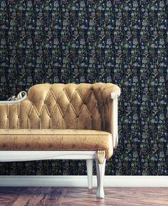 Tropical Wallpaper, Design Repeats, Wallpaper Samples, Allium, Wall Treatments, Repeating Patterns, Summer Nights, Designer Wallpaper, Love Seat