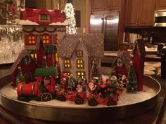 Our 2014 Christmas Village.