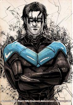 Nightwing And Batgirl, Batwoman, Robin Dc, Batman Robin, Nightwing Wallpaper, Marvel Dc, Marvel Comics, Batman Family, Batman Art