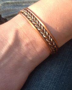 CoPPeR CuFF ARTiSaN RuSTiC Men/ Womens bracelet/ by Ivanwerks