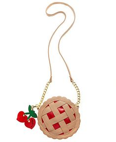 Betsey Johnson Cherry Pie Crossbody - Handbags & Accessories - Macy's IMAGINE THIS FOR A FEMALE DEAN WINCHESTER COSPLAY!!!!!!!!!