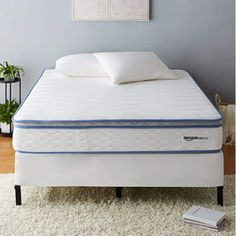 Medium-firm feel from the top layer of plushy memory foam combined with traditional inner springs for sufficient support King Furniture, Home Furniture, Anthology Bedding, Bench With Shoe Storage, King Headboard, Mattress Springs, Chair Fabric, Bed Frame, Memory Foam