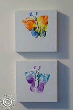 Vlinders van voetjes